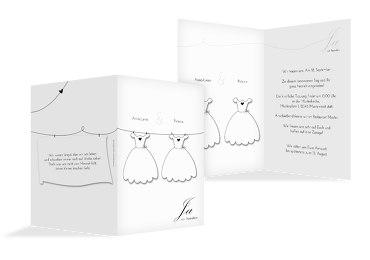 Hochzeit Einladungskarte dresses