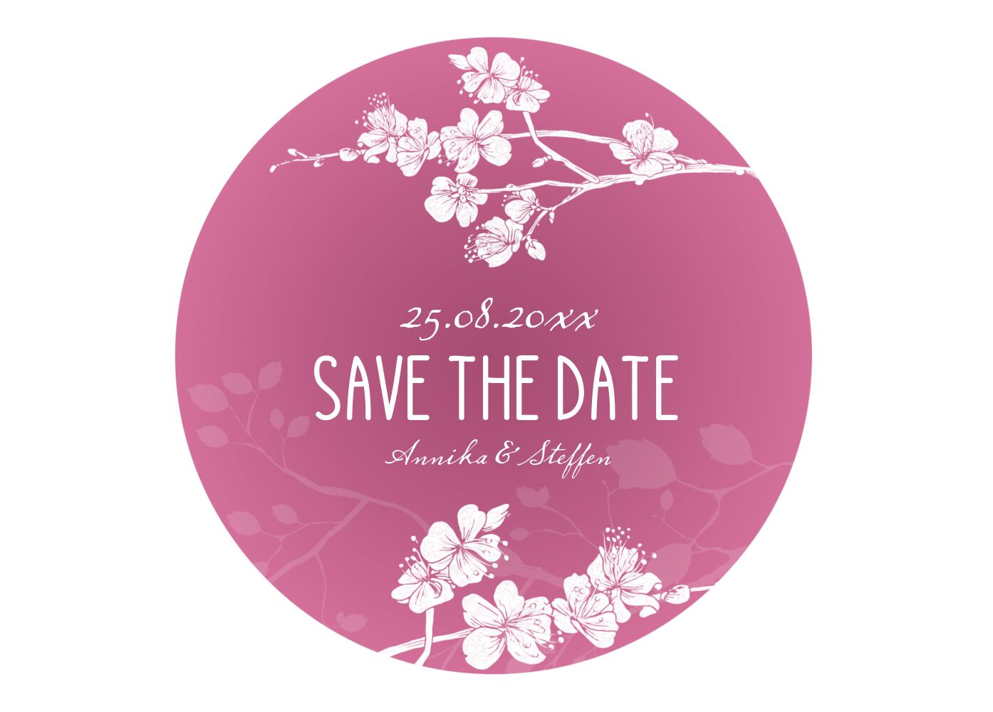 Ansicht 2 - Save-the-Date Cherry Blossom