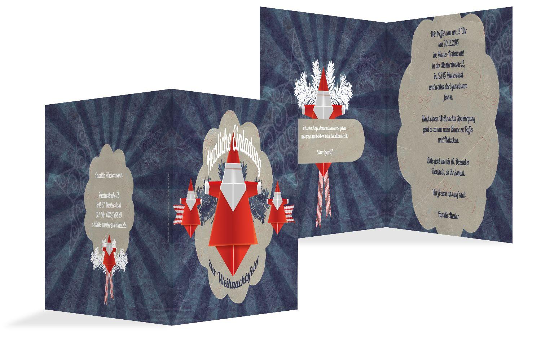Einladung Origami