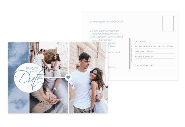 Hochzeit Antwortkarte Sanft