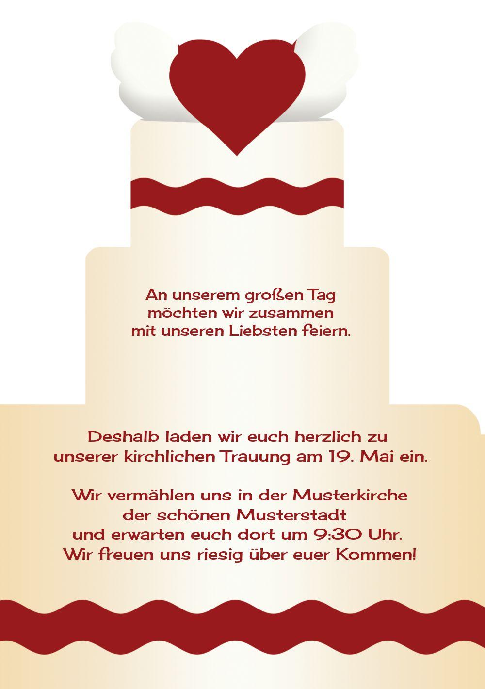 Ansicht 5 - Kontur Einladung Hochzeitstorte
