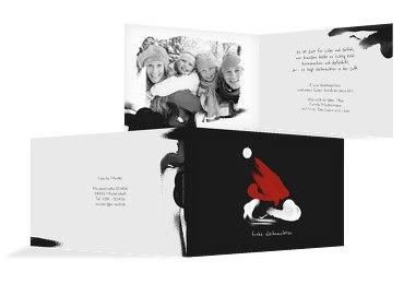 Foto Grußkarte Weihnachten Farbenmütze