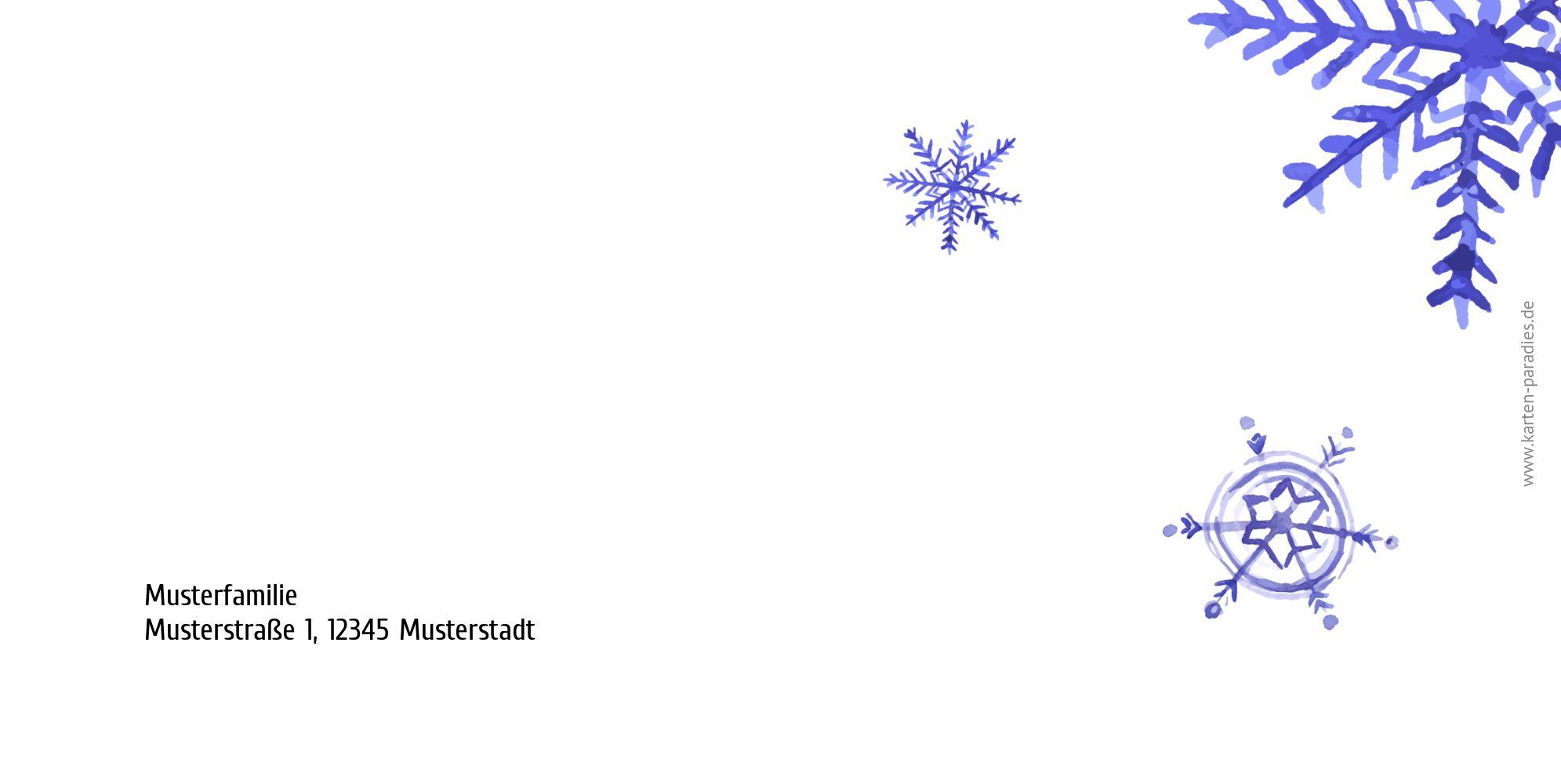 Ansicht 2 - Neujahrskarte Schneeflocken