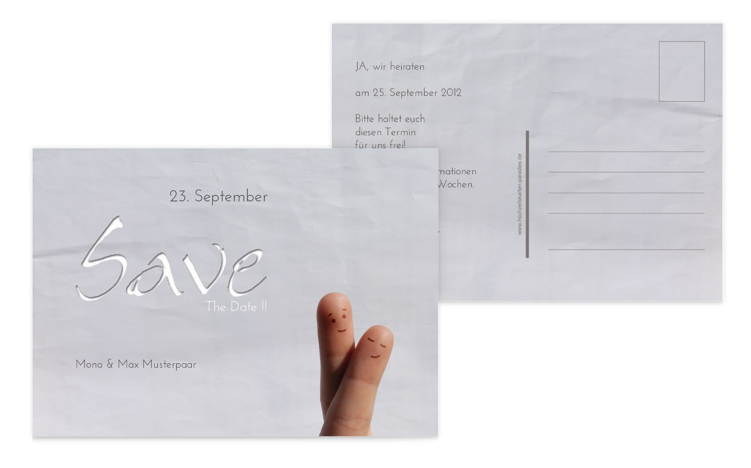 Save-the-Date Fingerpaar