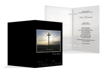 Dankeskarte Kreuz
