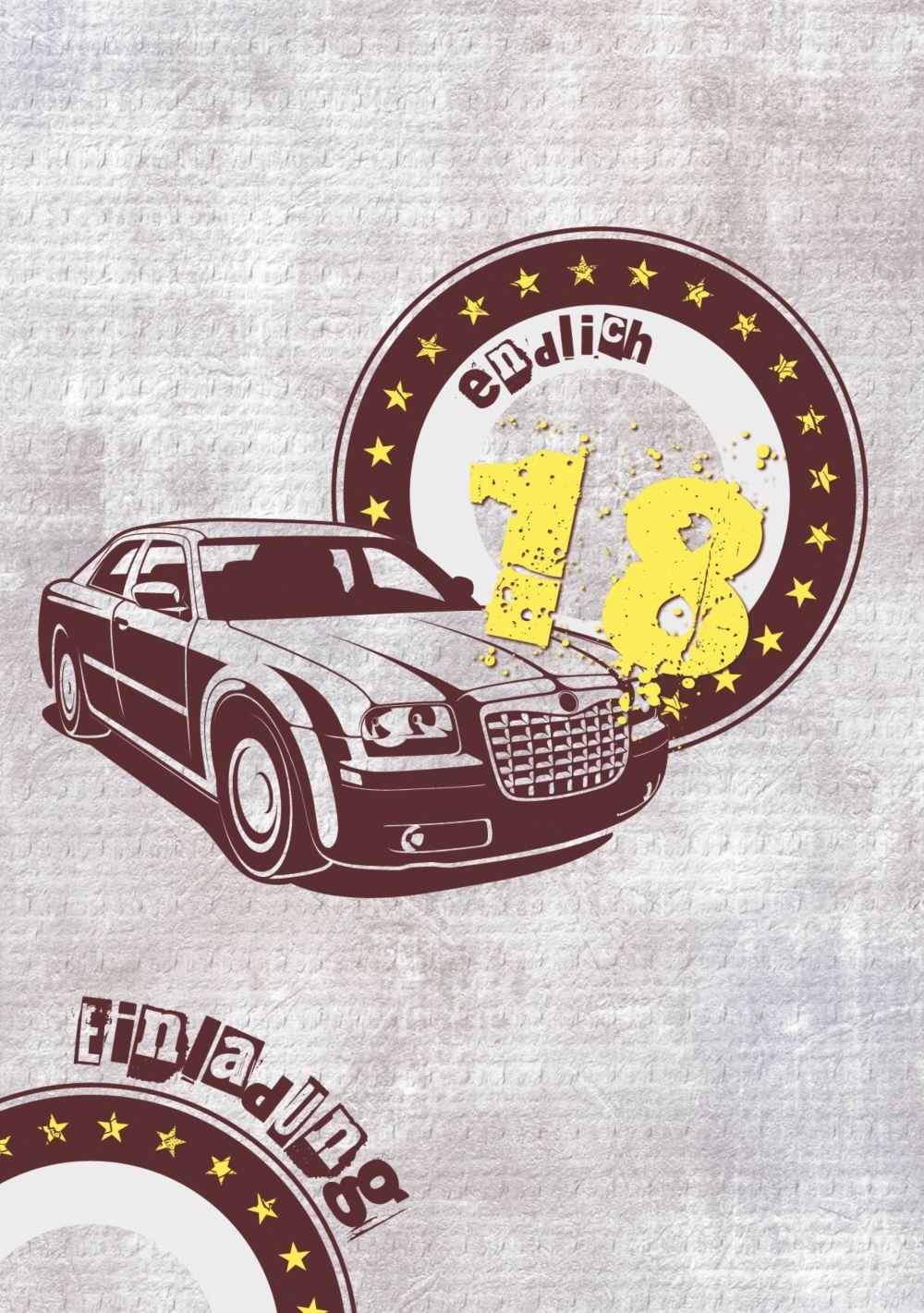 Ansicht 3 - Einladung zum Geburtstag Car Star 18 Foto