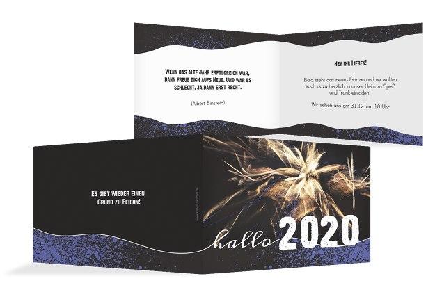 Neujahrskarte Feuerwerk