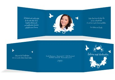 Firmung Dankeskarte Vogel
