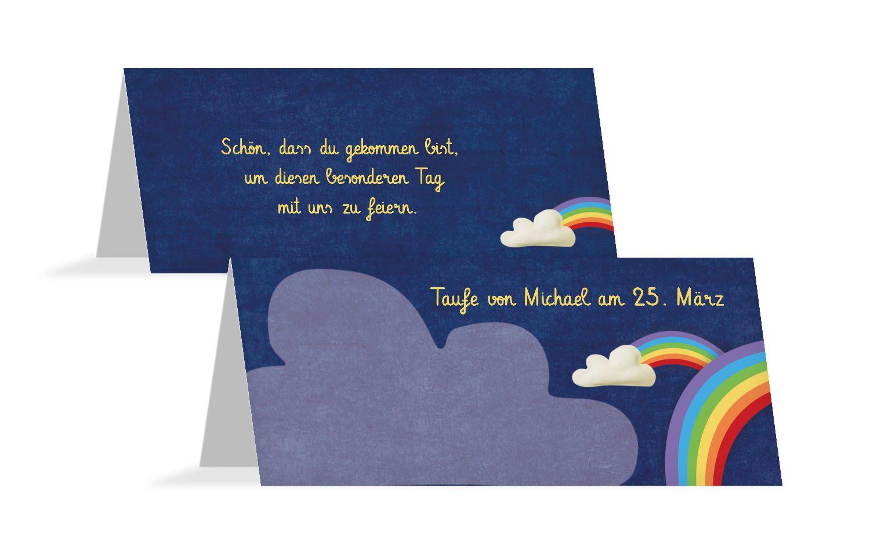 Tischkarte Regenbogenfantasie