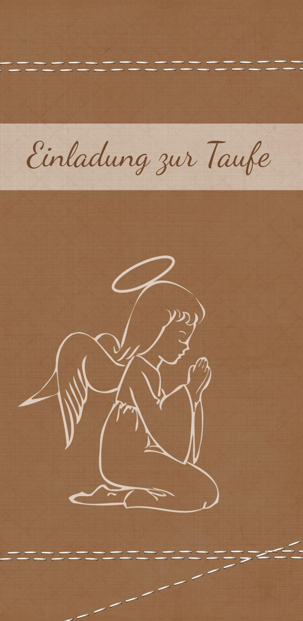 Ansicht 3 - Taufeinladung Engel