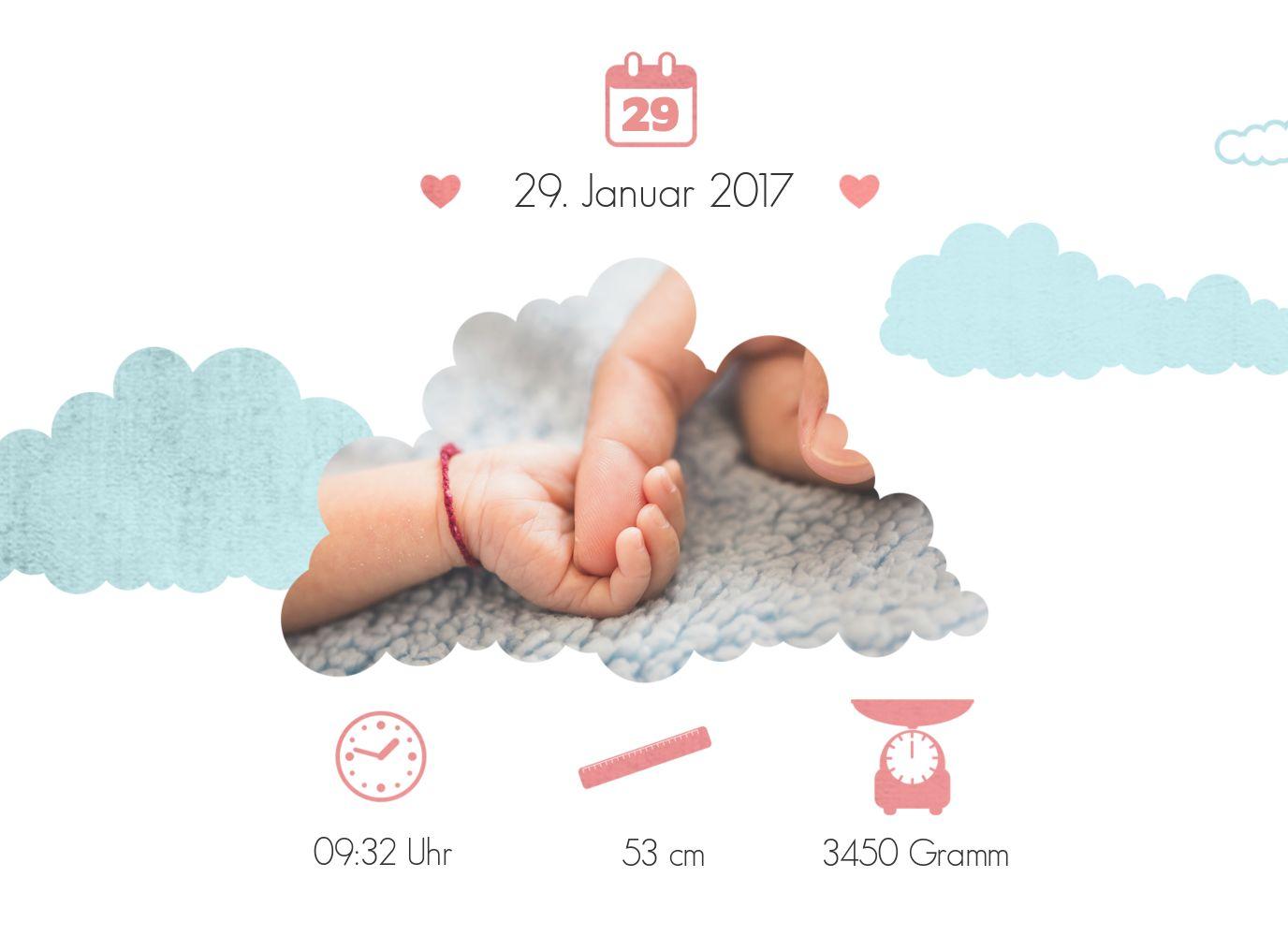 Ansicht 4 - Baby Dankeskarte Klapperstorch