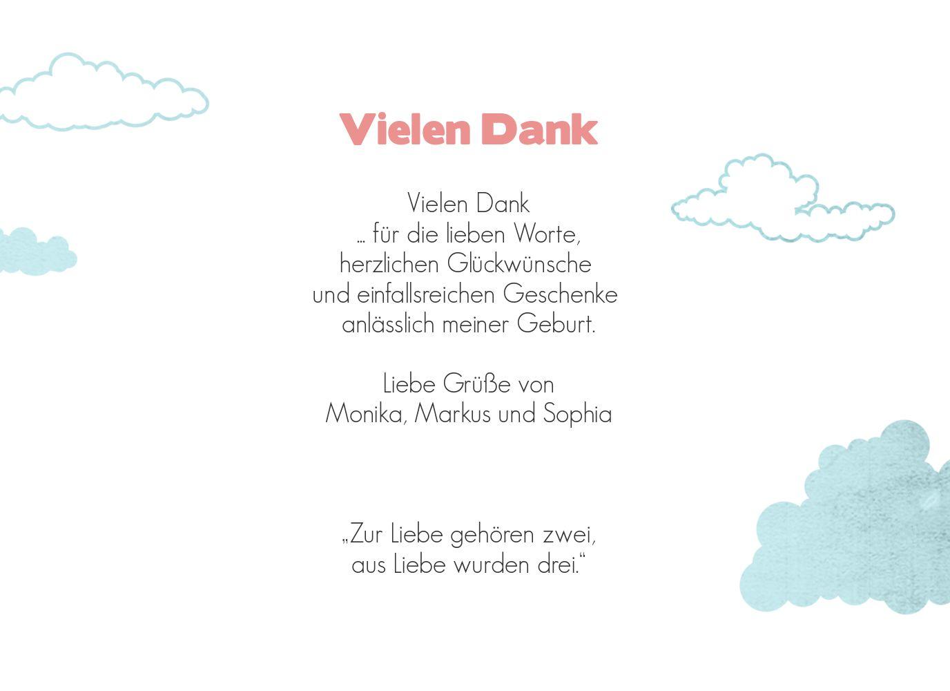 Ansicht 5 - Baby Dankeskarte Klapperstorch