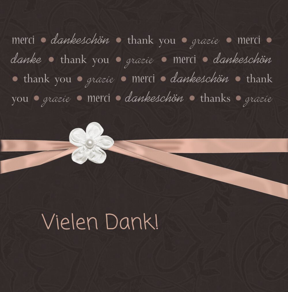 Ansicht 3 - Hochzeit Dankeskarte sanfte Blüte