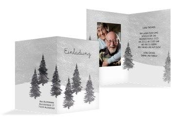 Foto Einladung Winterwald