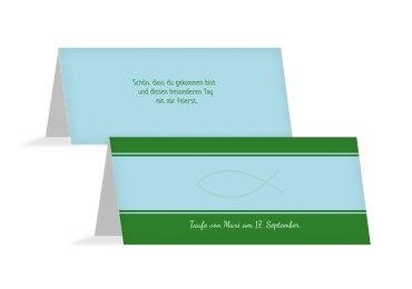 Taufe Tischkarte Fisch