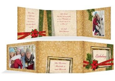 Foto Einladung Goldenes Geschenk