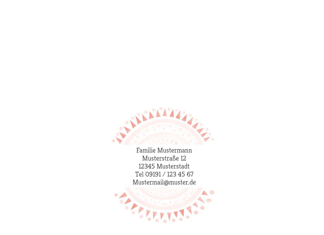 Ansicht 2 - Glückwunschkarte zur Geburt Mandala