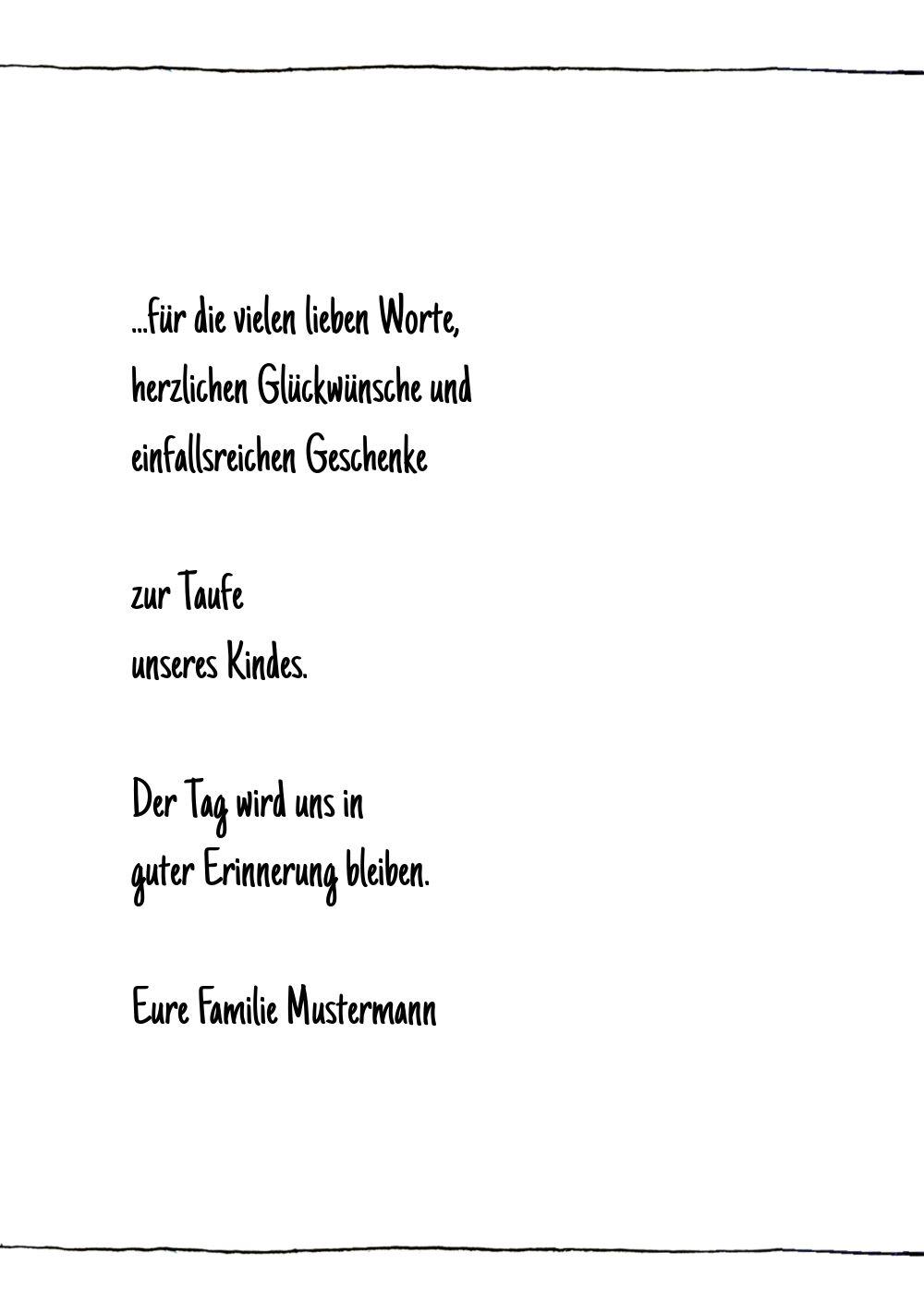Ansicht 5 - Taufe Dankeskarte Origamischiff