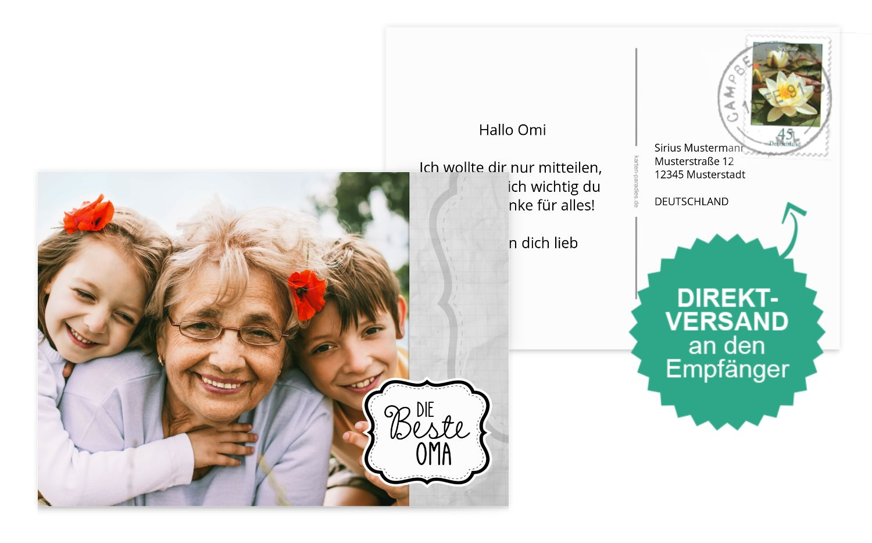 Fotospruchkarte Beste Oma