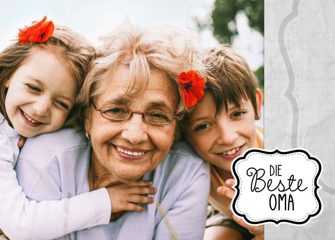 Ansicht 2 - Fotospruchkarte Beste Oma
