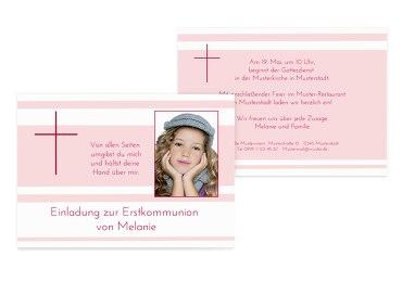 Kommunionskarte Kreuz