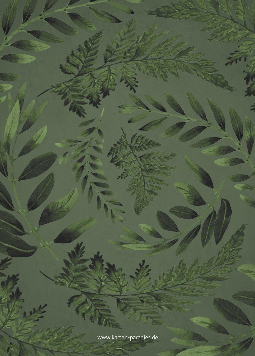 Ansicht 3 - Hochzeit Einladung Blätterwerk