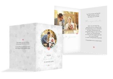 Hochzeit Dankeskarte Zarte Ranke