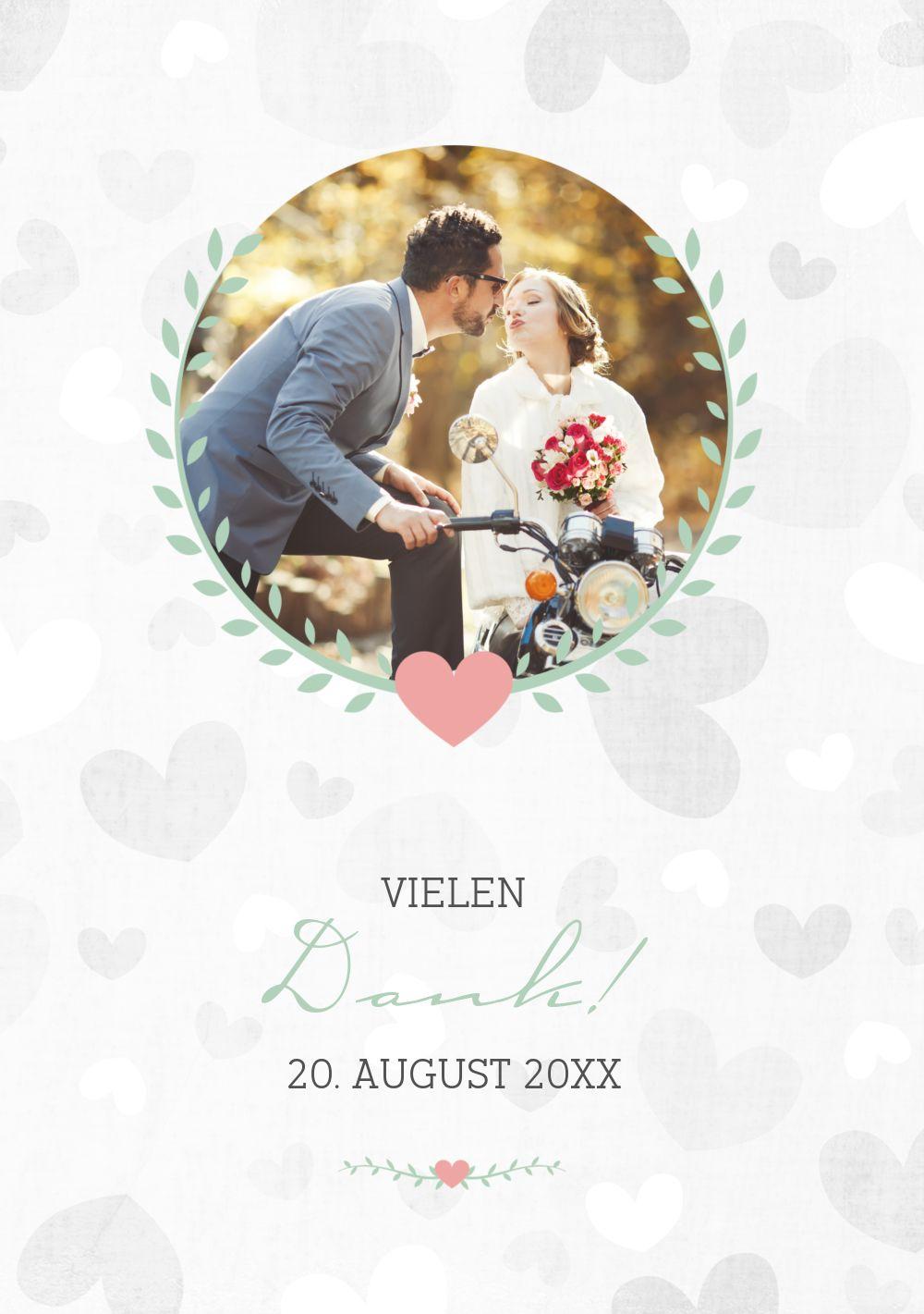 Ansicht 3 - Hochzeit Dankeskarte Zarte Ranke