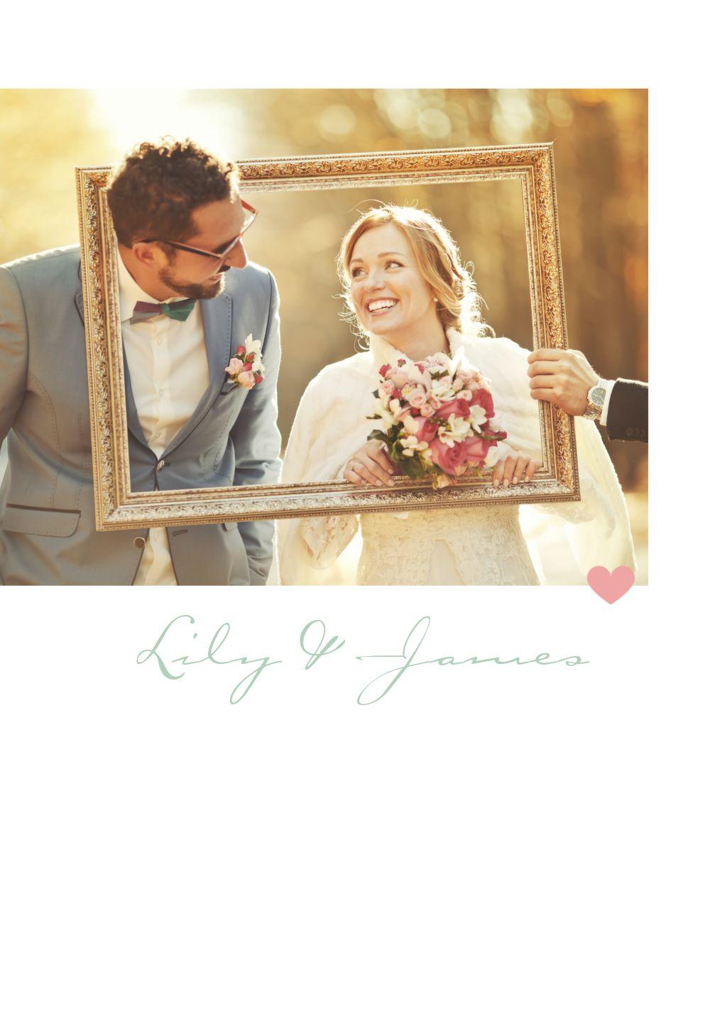 Ansicht 4 - Hochzeit Dankeskarte Zarte Ranke