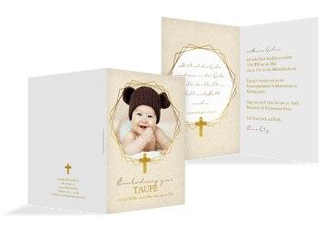 Taufe Einladung Goldrausch