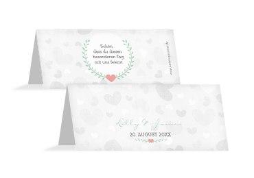 Hochzeit Tischkarte Zarte Ranke
