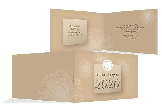 Neujahrskarte Cream