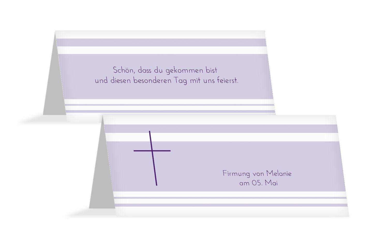 Tischkarte zur Firmung Kreuz