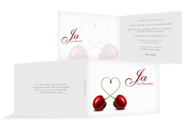 Hochzeit Einladungskarte Kirsche