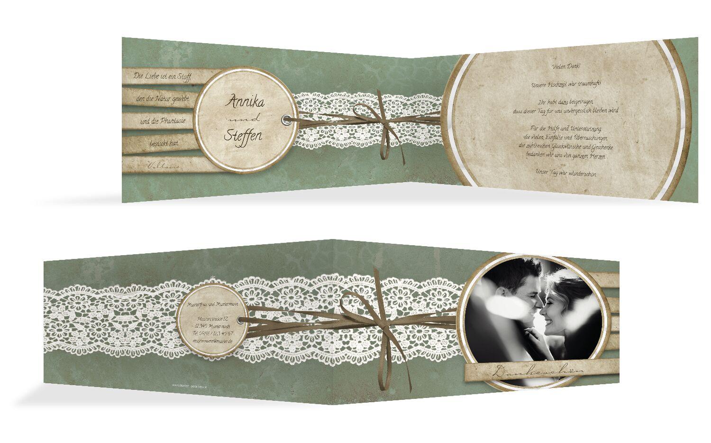 hochzeit dankeskarte vintage lace selbst gestalten. Black Bedroom Furniture Sets. Home Design Ideas