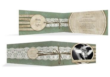 Hochzeit Dankeskarte Vintage Lace