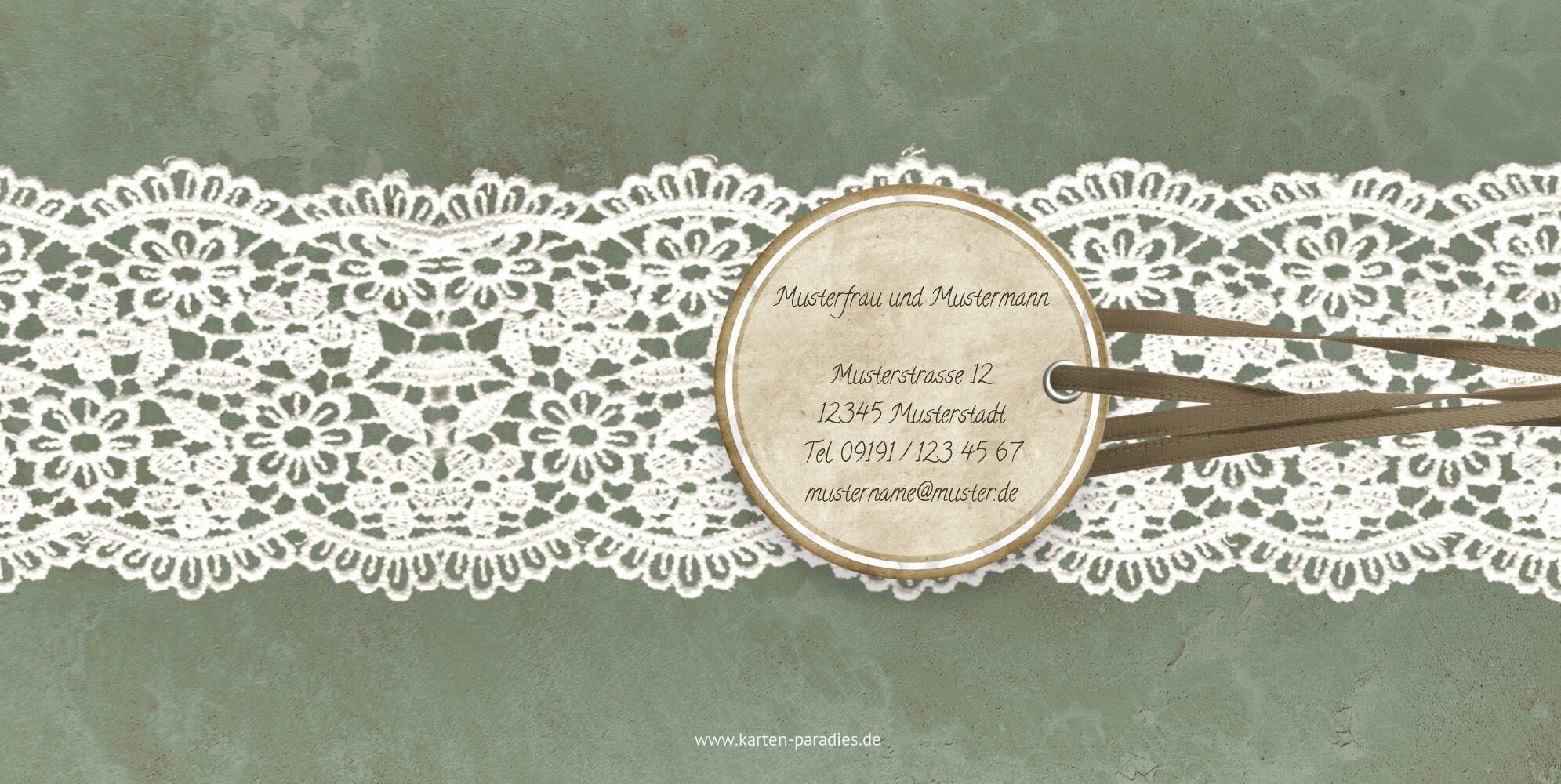 Ansicht 2 - Hochzeit Dankeskarte Vintage Lace