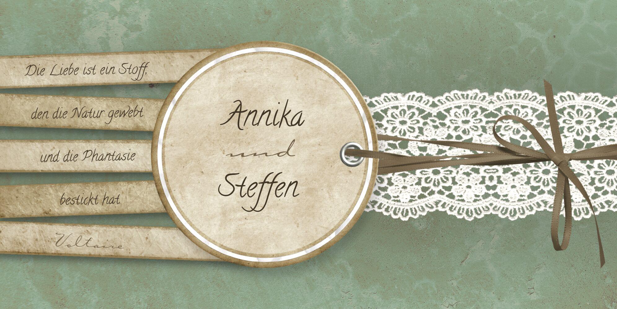 Ansicht 4 - Hochzeit Dankeskarte Vintage Lace
