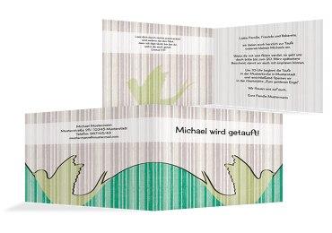Taufkarte Streifenharmonie