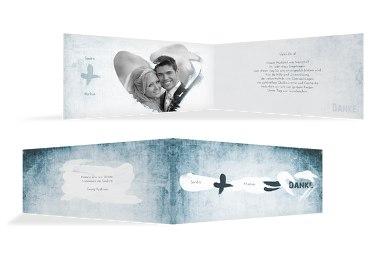 Hochzeit Dankeskarte Du + Ich = Liebe