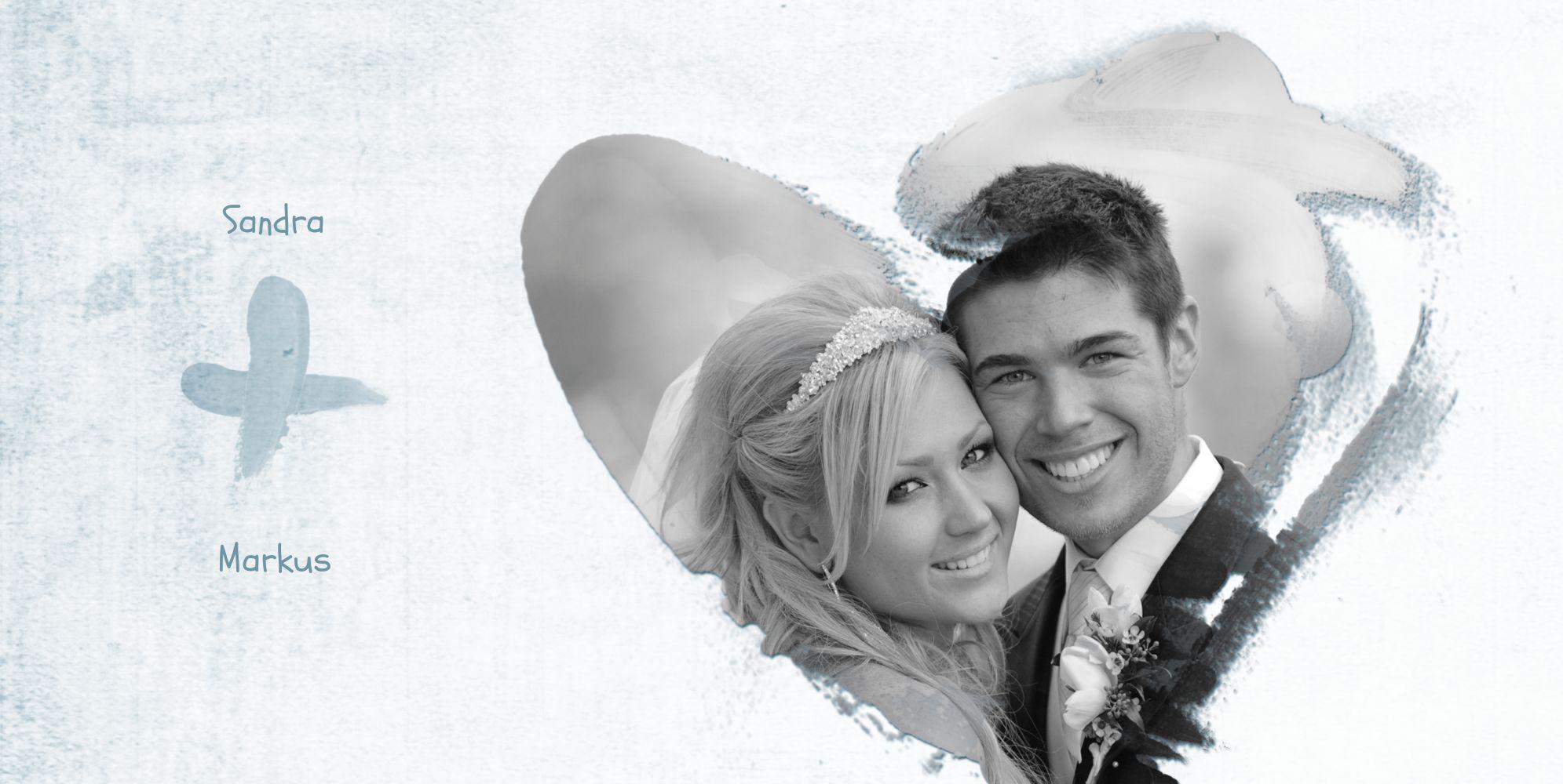 Ansicht 4 - Hochzeit Dankeskarte Du + Ich = Liebe