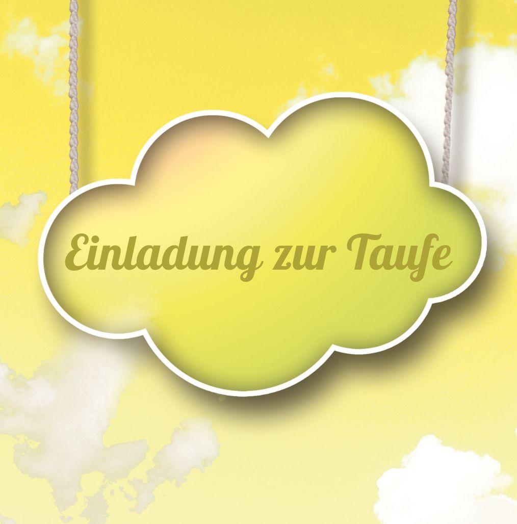 Ansicht 2 - Taufkarte Fluffy Cloud