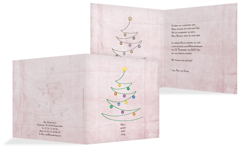 Einladung Weihnachtsbaum