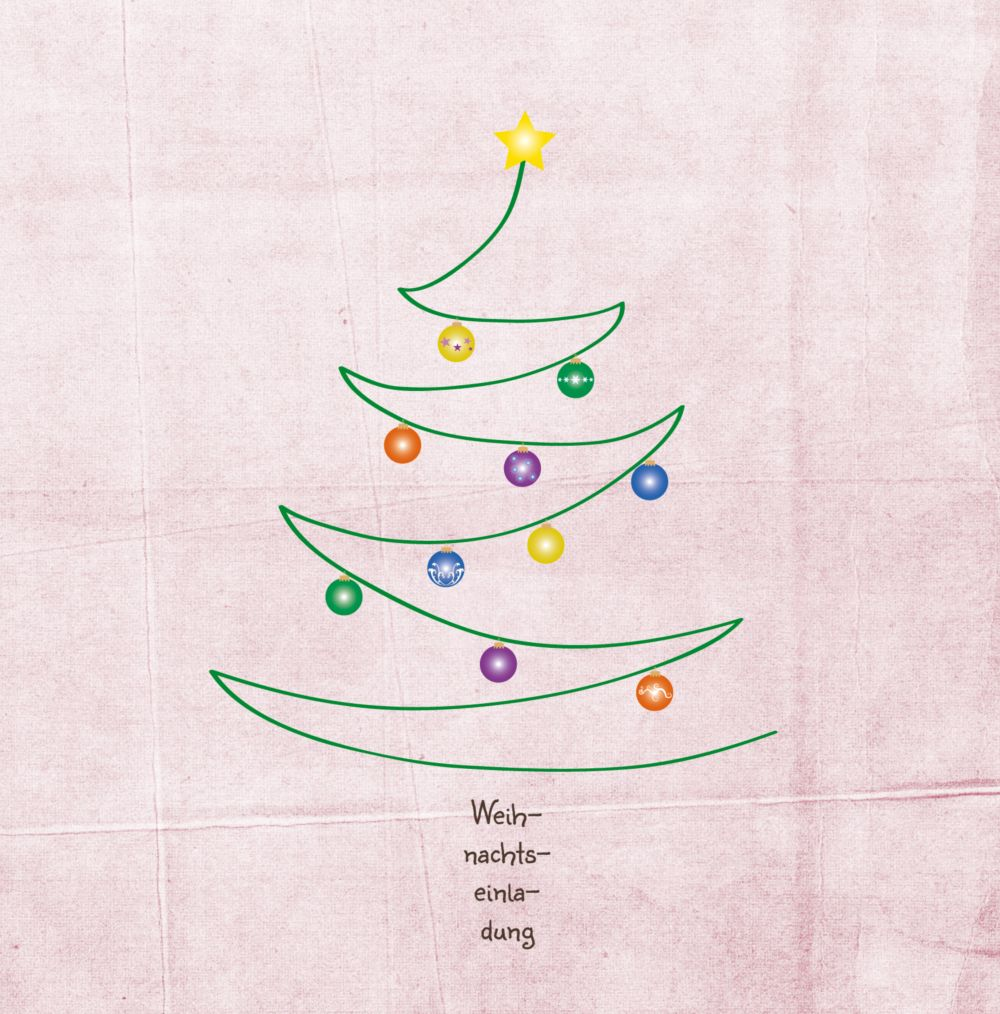 Ansicht 3 - Einladung Weihnachtsbaum