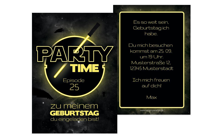 Geburtstagseinladung Partytime