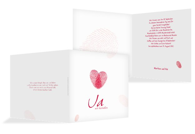 Hochzeit Einladung fingerprint