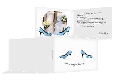 Hochzeit Dankeskarte High Heels