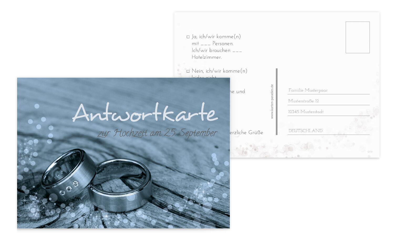 Hochzeit Antwortkarte Eheringe