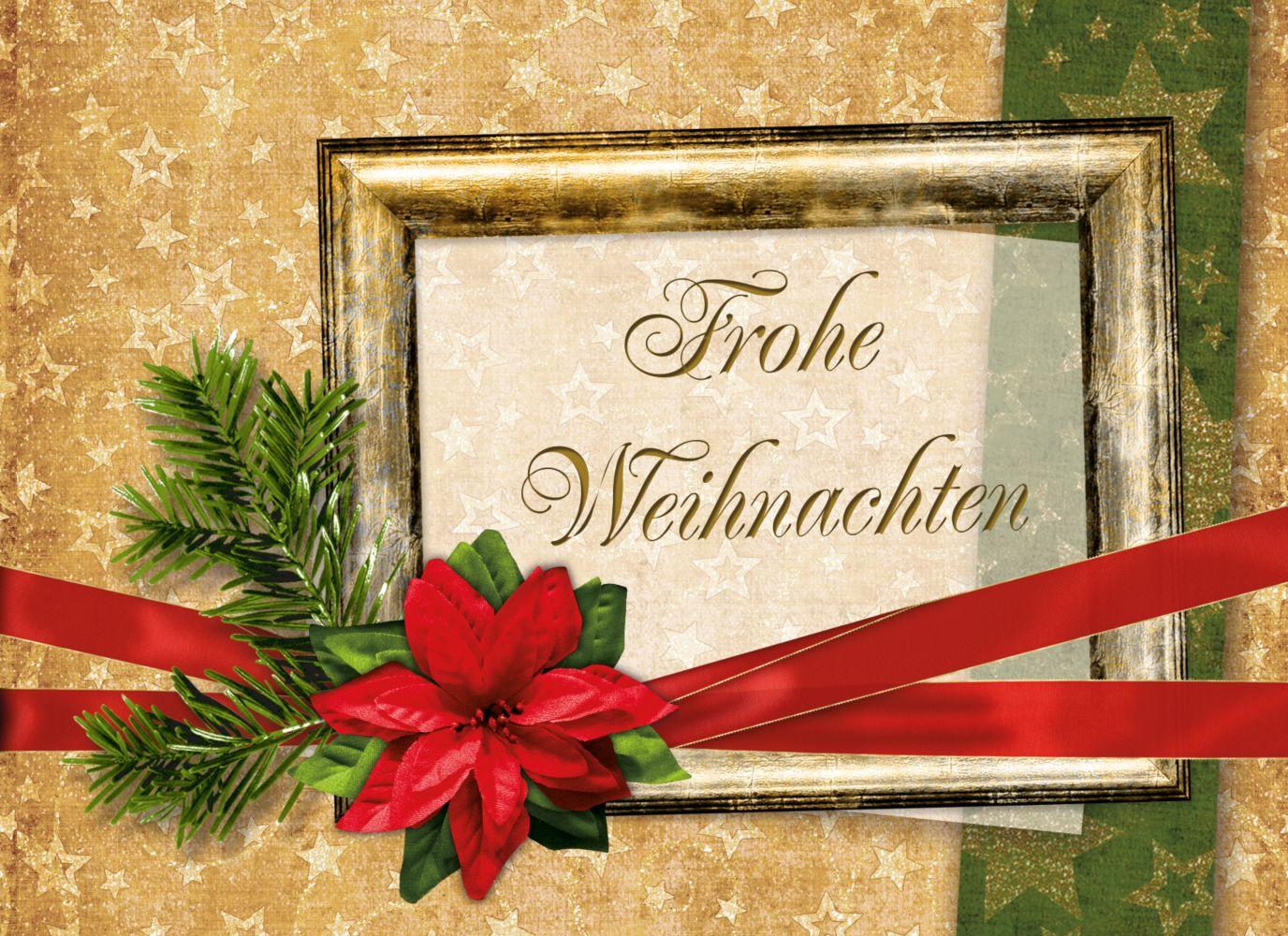 Ansicht 4 - Grußkarte Weihnachten Foto Goldenes Geschenk