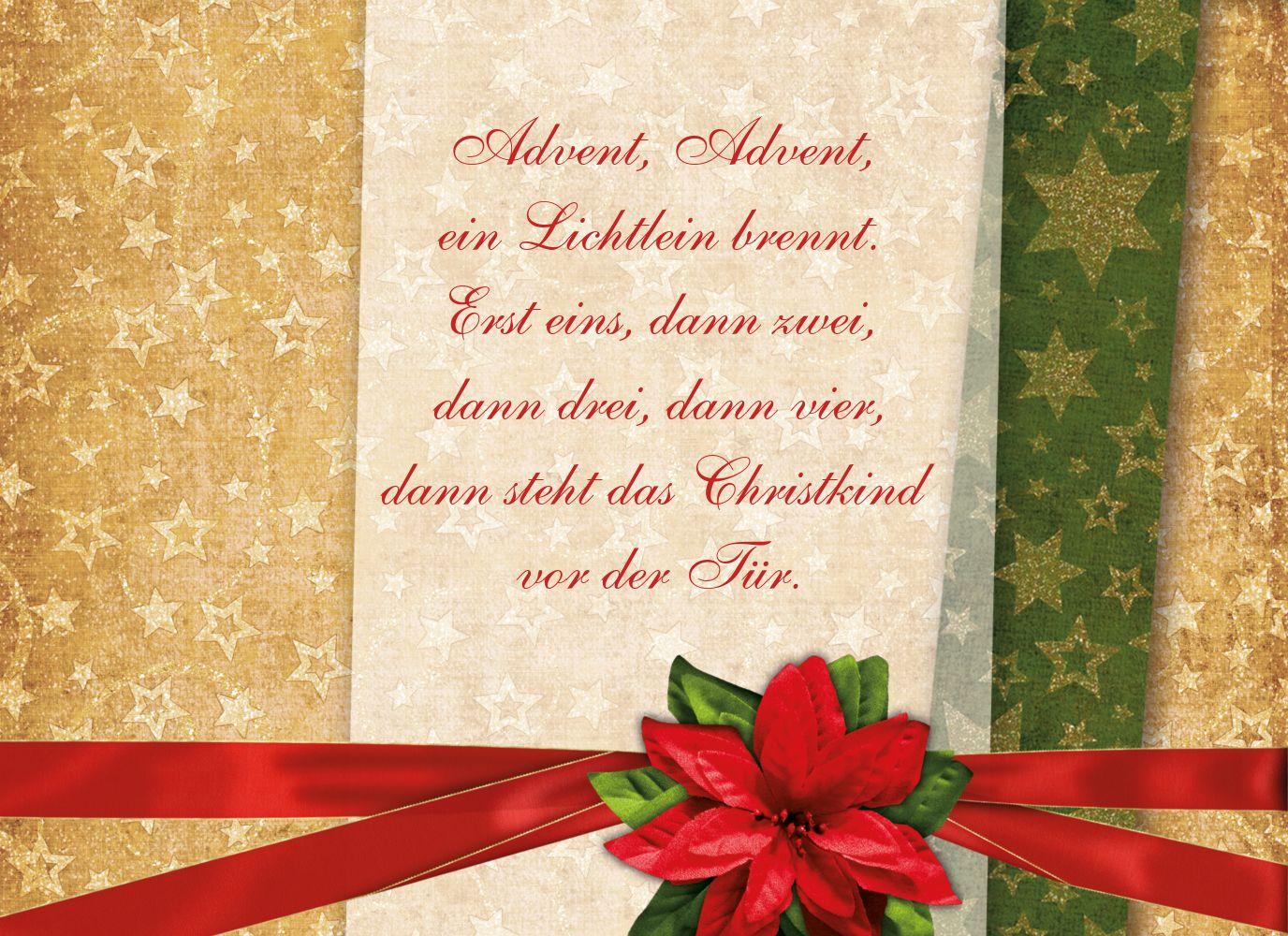 Ansicht 5 - Grußkarte Weihnachten Foto Goldenes Geschenk